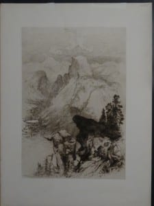 Mountain at Yosemite, c.1890. $75.