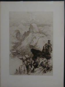 Mountain at Yosemite, c.1890. $75.