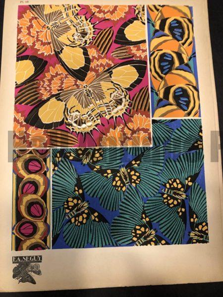 Pochoir Pattern by E.A. Seguy's Papillons